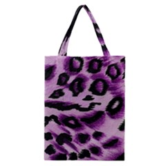 Background Fabric Animal Motifs Lilac Classic Tote Bag