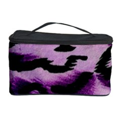 Background Fabric Animal Motifs Lilac Cosmetic Storage Case