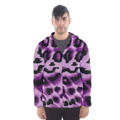 Background Fabric Animal Motifs Lilac Hooded Wind Breaker (men)