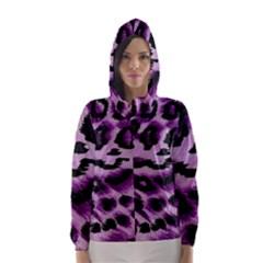 Background Fabric Animal Motifs Lilac Hooded Wind Breaker (women)