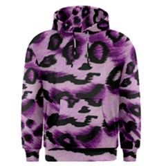 Background Fabric Animal Motifs Lilac Men s Pullover Hoodie