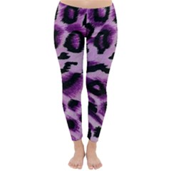 Background Fabric Animal Motifs Lilac Classic Winter Leggings