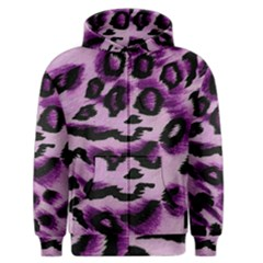Background Fabric Animal Motifs Lilac Men s Zipper Hoodie