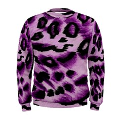 Background Fabric Animal Motifs Lilac Men s Sweatshirt