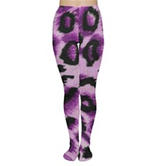 Background Fabric Animal Motifs Lilac Women s Tights