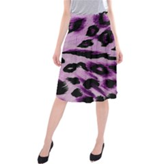 Background Fabric Animal Motifs Lilac Midi Beach Skirt