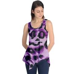 Background Fabric Animal Motifs Lilac Sleeveless Tunic