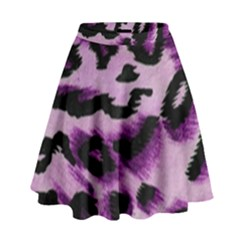 Background Fabric Animal Motifs Lilac High Waist Skirt