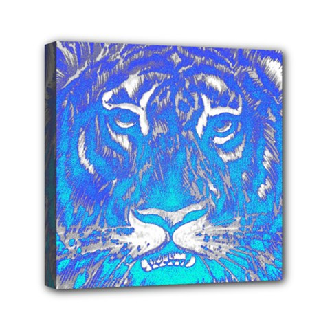 Background Fabric With Tiger Head Pattern Mini Canvas 6  X 6