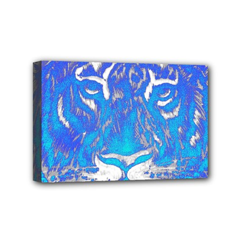 Background Fabric With Tiger Head Pattern Mini Canvas 6  X 4