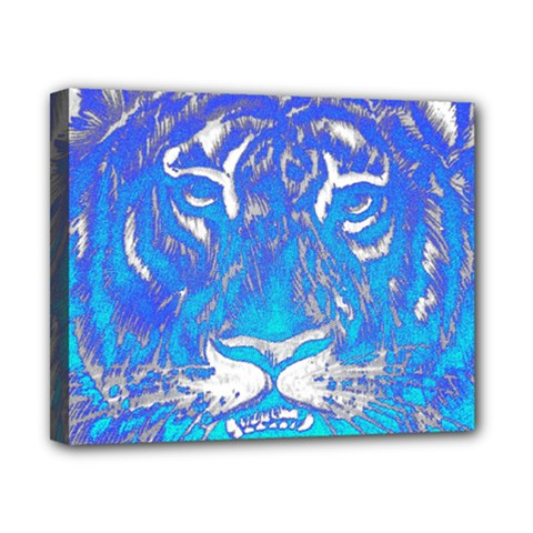 Background Fabric With Tiger Head Pattern Canvas 10  X 8