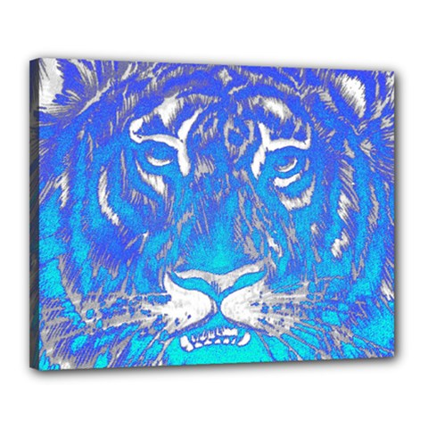 Background Fabric With Tiger Head Pattern Canvas 20  X 16