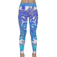 Background Fabric With Tiger Head Pattern Classic Yoga Leggings