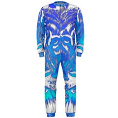 Background Fabric With Tiger Head Pattern Onepiece Jumpsuit (men)