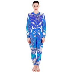 Background Fabric With Tiger Head Pattern Onepiece Jumpsuit (ladies)