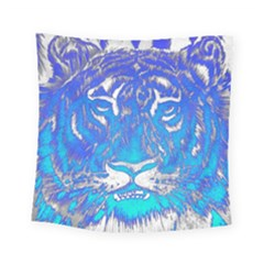 Background Fabric With Tiger Head Pattern Square Tapestry (small)