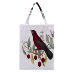 Bird On Branch Illustration Classic Tote Bag