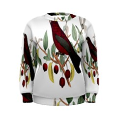Bird On Branch Illustration Women s Sweatshirt
