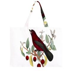 Bird On Branch Illustration Large Tote Bag