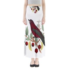 Bird On Branch Illustration Maxi Skirts
