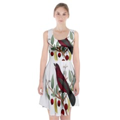 Bird On Branch Illustration Racerback Midi Dress
