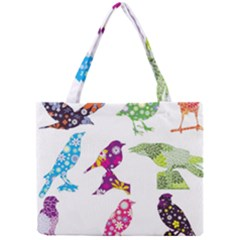 Birds Colorful Floral Funky Mini Tote Bag