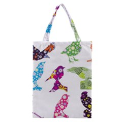 Birds Colorful Floral Funky Classic Tote Bag