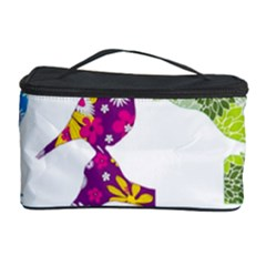 Birds Colorful Floral Funky Cosmetic Storage Case