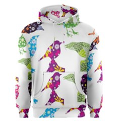 Birds Colorful Floral Funky Men s Pullover Hoodie