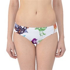 Birds Colorful Floral Funky Hipster Bikini Bottoms