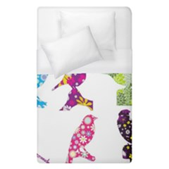Birds Colorful Floral Funky Duvet Cover (single Size)