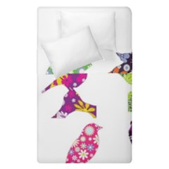 Birds Colorful Floral Funky Duvet Cover Double Side (single Size)