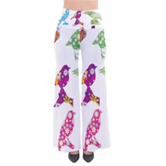 Birds Colorful Floral Funky Pants