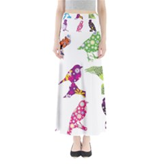 Birds Colorful Floral Funky Maxi Skirts