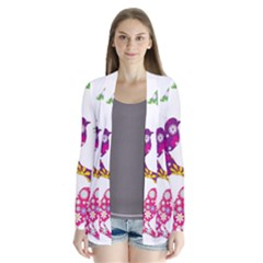 Birds Colorful Floral Funky Cardigans