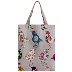 Birds Floral Pattern Wallpaper Classic Tote Bag