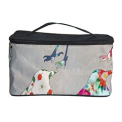 Birds Floral Pattern Wallpaper Cosmetic Storage Case
