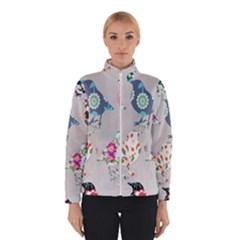 Birds Floral Pattern Wallpaper Winterwear