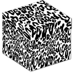 Black And White Leopard Skin Storage Stool 12