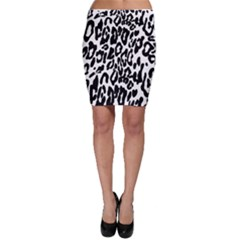 Black And White Leopard Skin Bodycon Skirt