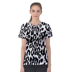 Black And White Leopard Skin Women s Sport Mesh Tee