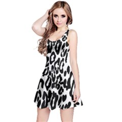 Black And White Leopard Skin Reversible Sleeveless Dress