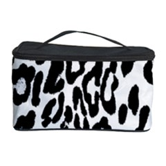 Black And White Leopard Skin Cosmetic Storage Case