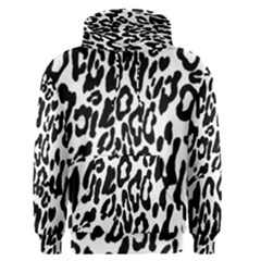 Black And White Leopard Skin Men s Pullover Hoodie