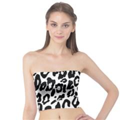 Black And White Leopard Skin Tube Top