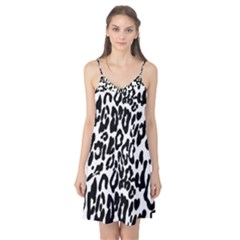 Black And White Leopard Skin Camis Nightgown