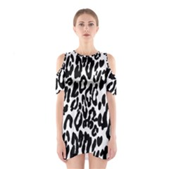 Black And White Leopard Skin Shoulder Cutout One Piece