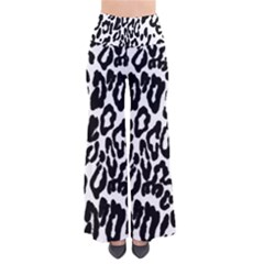 Black And White Leopard Skin Pants