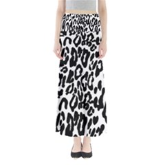 Black And White Leopard Skin Maxi Skirts