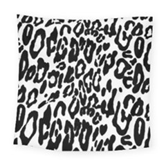 Black And White Leopard Skin Square Tapestry (large)
